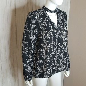 Jack by BB Dakota Tops - Jack by BB Dakota Black Floral Blouse